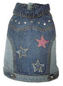 Denim Stars Dog Jacket