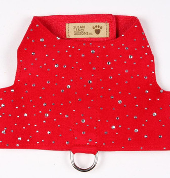Susan Lanci Red Bailey II Harness - Silver Stardust