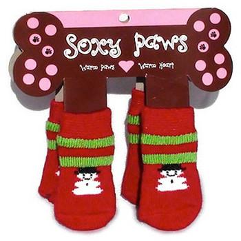 Snowman Dog Socks