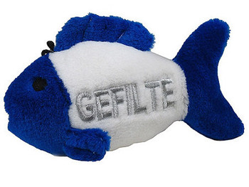 "4.5"" Talking Gefilte Fish Dog Toy"
