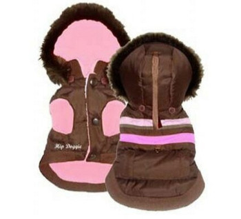 Brown Urban Dog Ski Vest - Reversible - BIG Dog Sizes