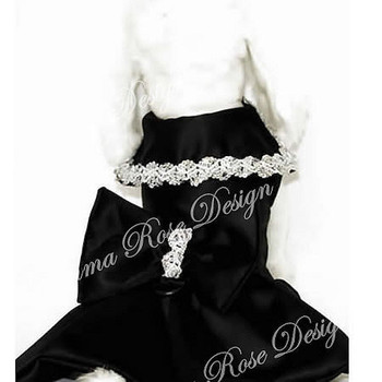 Black Glamour Designer Dog Dress