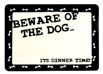 Beware Placemats