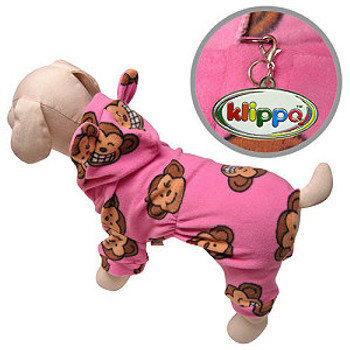 Pink Silly Monkey Dog Pajamas