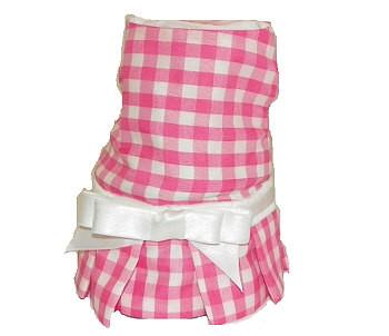 Pink Checks Dog Dress By Stevie Michelle - XXS