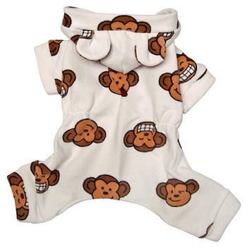 White Silly Monkey Dog Pajamas