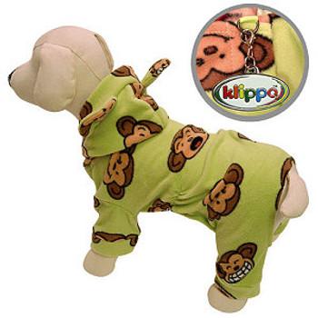 Lime Silly Monkey Dog Pajamas