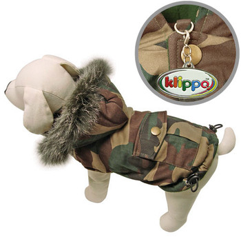 Camouflage Dog Coat with Detachable Hood