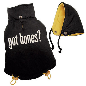 Got Bones? Dog Coat, Detachable Hood