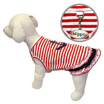 Striped Nautical Sailor Dog Shirt
