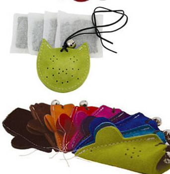 Mouse Refillable Leather Catnip Toy