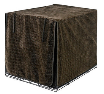 Chocolate Bones Luxury Dog Crate Cover