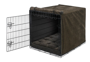 Chocolate Bones Luxury Dog Crate Cover