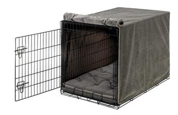 Pewter Bones Luxury Dog Crate Cover