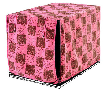 Luxury Dog Crate Cover - Tickled Pink