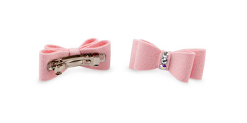 Crystal Dog Hair Bow Barrettes  - More Colors