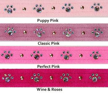 Crystal Paw Print Collars - Pinks - Susan Lanci