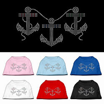 Anchors Rhinestone Dog Tank