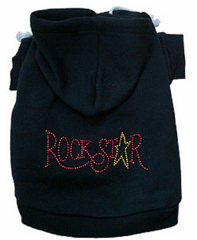 Rock Star Rhinestone Dog Hoodie