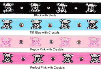 Susan Lanci Skull Dog Collar (4 Colors)