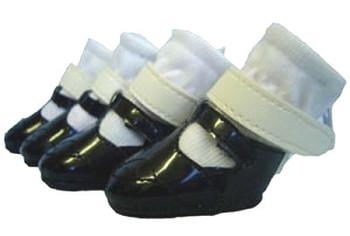 Mary Jane Dog Shoes - Black