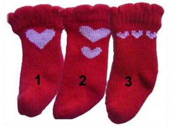 Heart Red Dog Socks