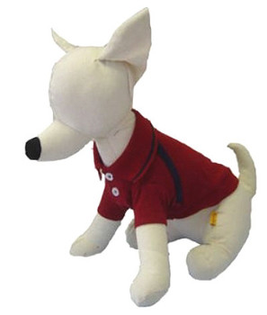 Burgundy Polo Dog Shirt