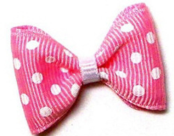 Dog Bows - Pink & White Polka Dots