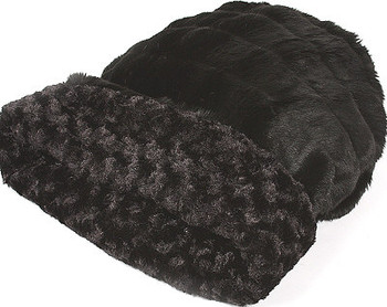 Cuddle Cup - Black Curley Sue by Susan Lanci