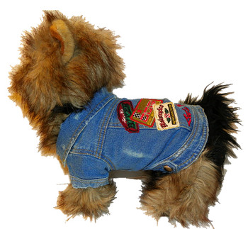 Lets Ride Dog Biker Jacket