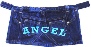 Denim ANGEL Dog Skirt
