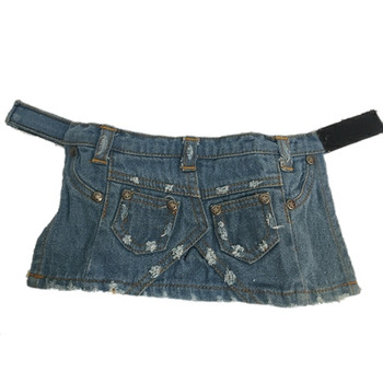 Stonewashed Denim Dog Skirt