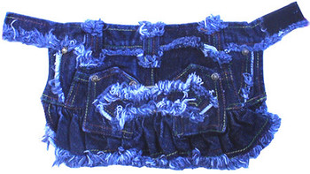 Distressed Denim Dog Skirt