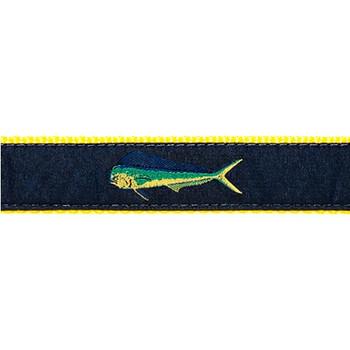 Dog Collar - Mahi Mahi (Navy) - 3/4 & 1 1/4