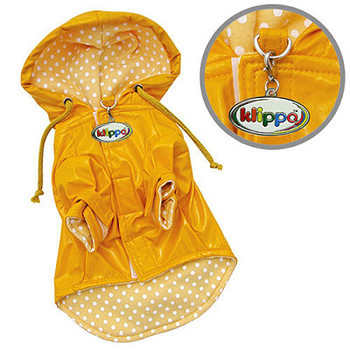 Daisies & Polka Dots Dog Raincoat