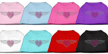Aviator Heart Rhinestone Dog Tank