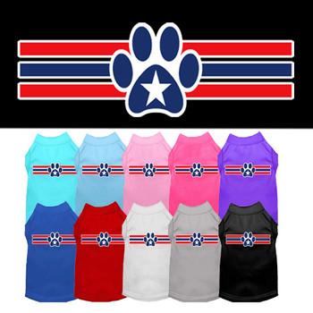 Patriotic Paw Stripe Dog Tank