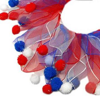 Red White & Blue Dog Smoocher - Fuzzy
