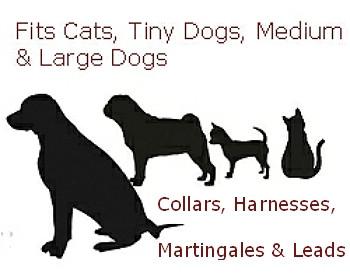 Dog Collar - Golf Balls Pink - 1/2, 3/4 & 1 1/4