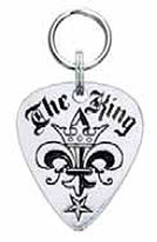 The King Engravable Sterling Silver Guitar Pick DogTag