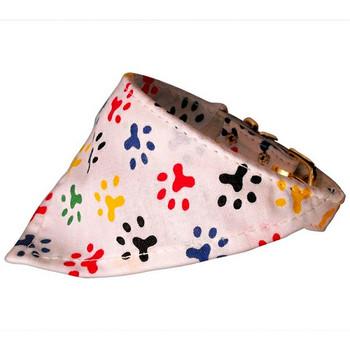 Dog Collar Bandana - Paw Prints