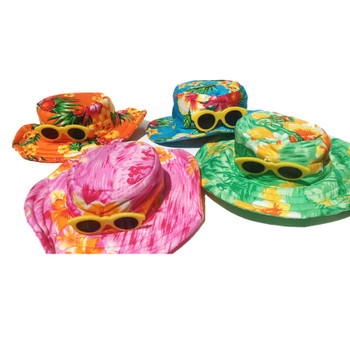 Hawaiian Bucket Style Pet Dog Hat