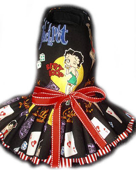 Las Vegas Betty Boop Harness Dog Dress