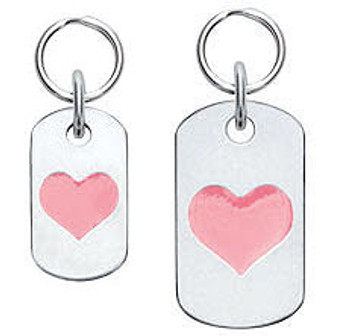 Dog ID Tag with Heart - Engravable, 18 Colors
