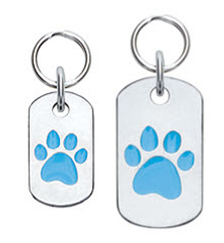 Dog ID Tag with Paw - Engravable, 18 Colors