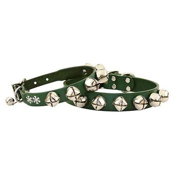 Jingle Bell Dog Collar - Green