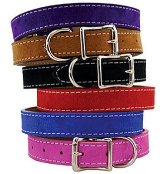 Saratoga Suede Dog Collars