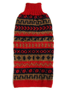 Alpaca Dog Sweater - Red Splendor