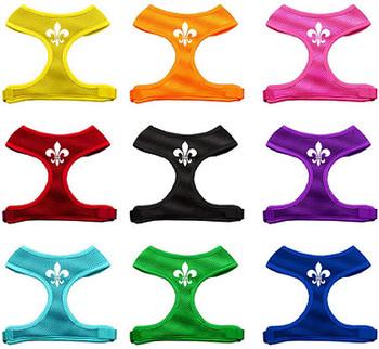 Fleur de Lis Design Soft Mesh Dog Harnesses