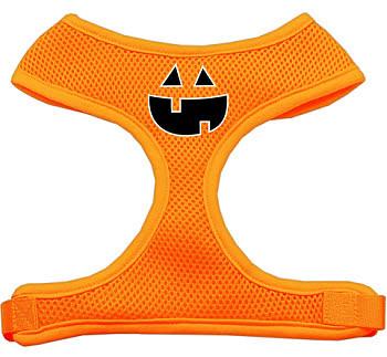 Pumpkin Face Soft Mesh Dog Harness